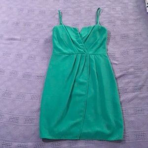 Green formal cocktail dress